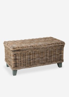 Seascape Driftwood Rattan Coffee Table With Storage (37X20X18)