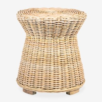 Seascape Rattan Side Table - Natural (20x20x22)