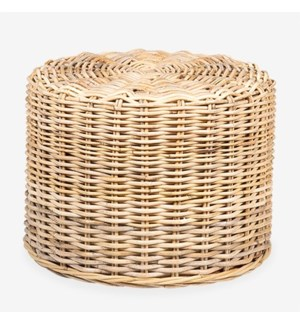 Seascape Rattan Stool - Natural (20x20x15)