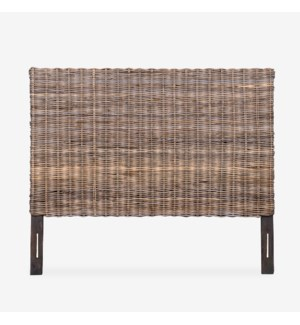 Seascape Queen/Full Driftwood Rattan Headboard, Kubu Grey