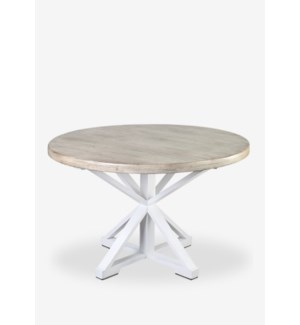 "Sonoma 48"" Two Tone Round Dining Table (K/D)(48X48X30) (2 BOXES PER ITEM)"