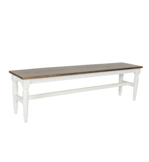 Simone Bench-White  (59X13X17)
