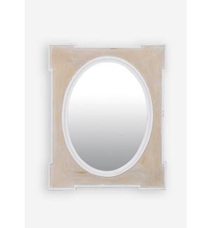 (LS) Una Mirror-White (25.5X1.5X31.5)....