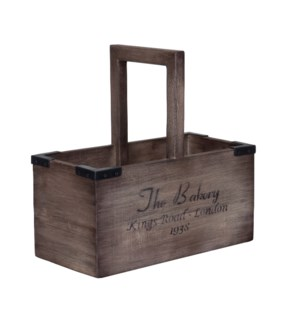 (LS) Wooden Utility Organizer With Handle (16x8x16)