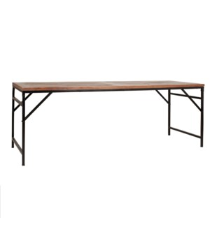 "Barley 85"" Dining Table, Wood/Iron"