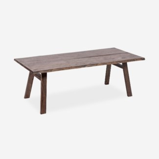 Raymond Dining table 87X38X31 -- live edge - Brown wash