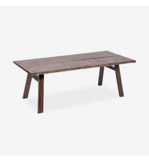 "Raymond 87"" Live Edge Dining Table, Brown Wash"