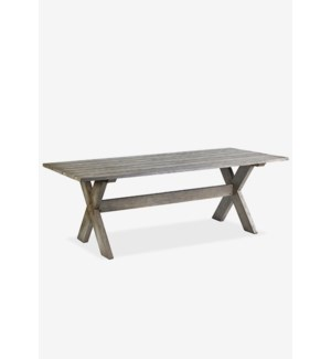 (LS) Terrain Dining Table  - Vintage Grey..Dimension: 86.5X39.25X30