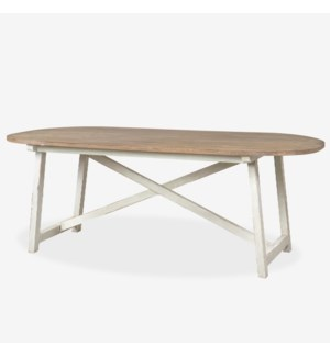 "83"" Hudson Table with White Trestle Base"