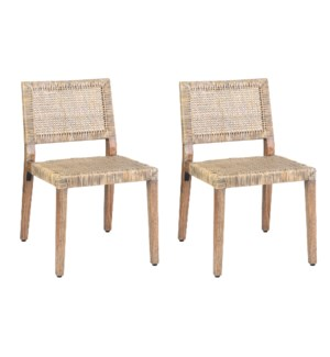 Dutch Dining Side Chairs (Set of 2) - (package: 2pcs/box) priced per pair