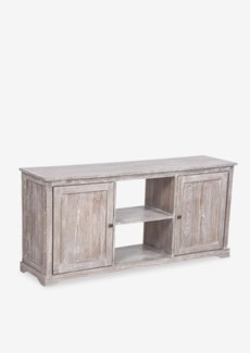 Jules White Wash  Media Cabinet With 2 Doors and 2 Shelves (59x15.2x27.6)