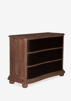 (LS) Gabriel 3 Drawers Chest With Metal Accents Facade (50x20x36)