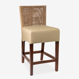 """(LS) Karyn Counterstool-w/ Back-Seat Upholster (18x20x38) Seat Height 26"""""""