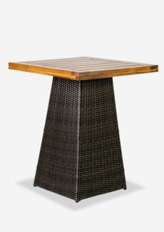 (LS) Pyramid Counter Bar Table Teak Top(30X30X36.5)