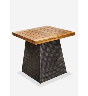 (LS) Pyramid Dining Table Teak Top - Outdoor - (40x40x29) (Base + Top + Box of Weights)