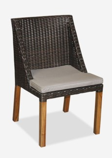 (LS) Swooped Dining Chair-Prussian Dark-Outdoor (21.5x21x35)