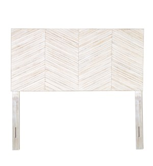 Colton Slatted Headboard - Queen, White Wash