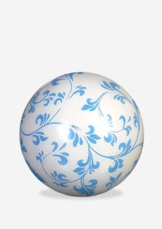 (LS) Misty Blue on White Background Decorative Ball (7(D))
