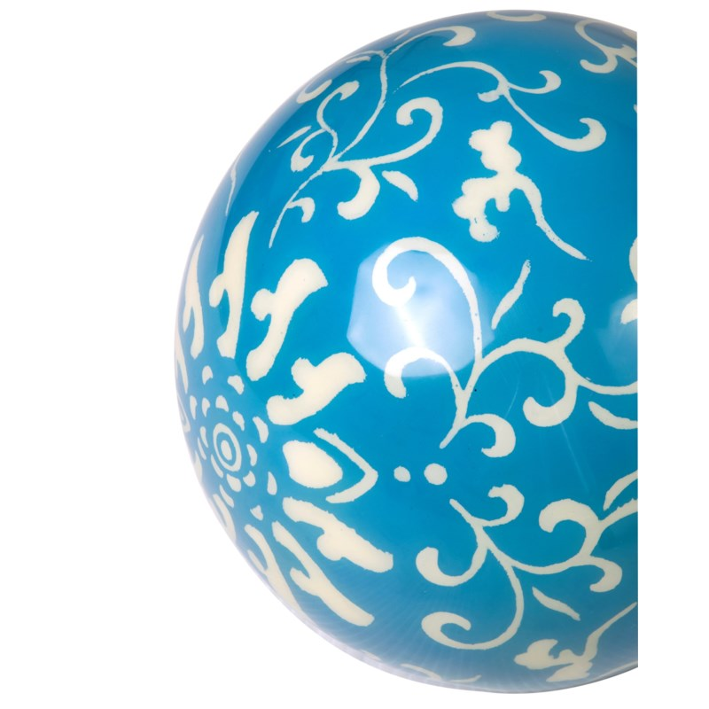 (LS) Misty White on Blue Background Decorative Ball (9(D))