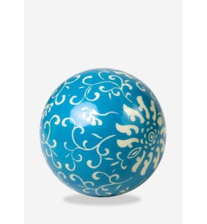 "(LS) Misty White on Blue Background Decorative Ball (9"")"