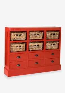 Nantucket Storage Cabinet (6 baskets+ 6 Drawers)-Ant Red (46x10x36)