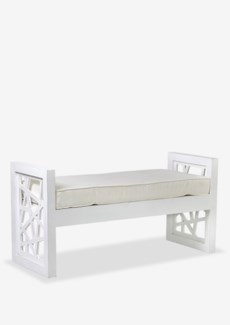 (LS) Birdnest Bench w/o Boolster Rubbed White