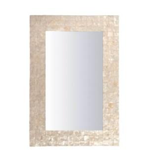 (LS) Chesapeake Mirror w/ Capiz Shell - Small (27x1x39)