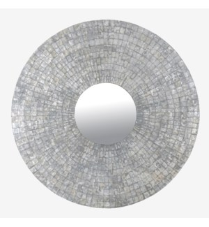 (SP) Cameron Round Mirror XL - Silver (47X47X1)