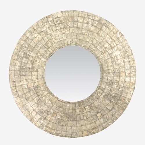 (LS) Cameron Round Mirror L-Silver (35X35X1)