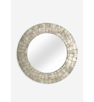 (SP) Cameron Round Mirror M - Silver (24X24X1)
