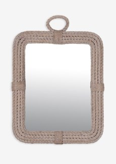 Aspen Rectangular Mirror-White Wash..