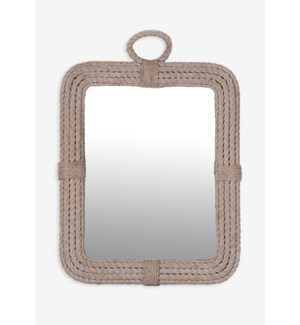 (LS) Aspen Rectangular Mirror-White Wash..