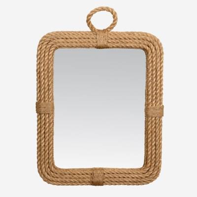 Aspen Rectangular Mirror - Natural (24x2x30)