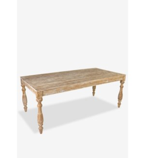 Charleston Dining Table, White Patina (77x37x30)
