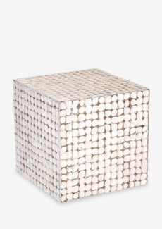 (LS) Cassy Stool-WH (16.5x16.5x16.5)