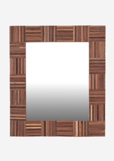 (LS) Cheyenne Wood Mirror-Rectangle (29x1.2x26)