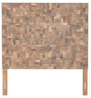 "Sequoia Headboard-Queen (Recycled Wood) (62""X2""X68"") Color: Natural"