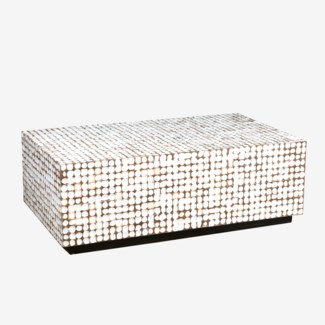 New Hampton Cocktail Table - White Patina (26X47X16)