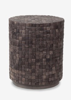 New Hampton Round End Table-Dark Brown