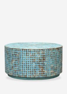 New Hampton Round Cocktail Table- Blue (31X31X16)