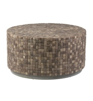 New Hampton Round Cocktail Table- Dark Brown