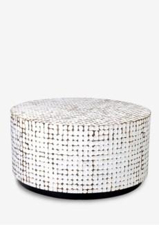 New Hampton Round Cocktail Table-White Patina-Big (37X37X18.5)......