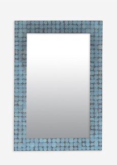(LS) New Hampron Rectangle Mirror-Small-Blue Bliss (25X1.2X37)