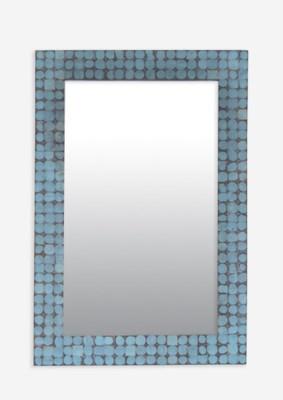 (LS) New Hampron Rectangle Mirror-Small-Blue Bliss (25X1.2X37)