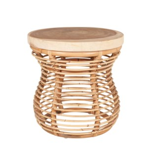 Orinda Side Table with Wood Top - Natural