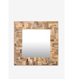 (LS) Sequoia Square Mirror (35X2X35)