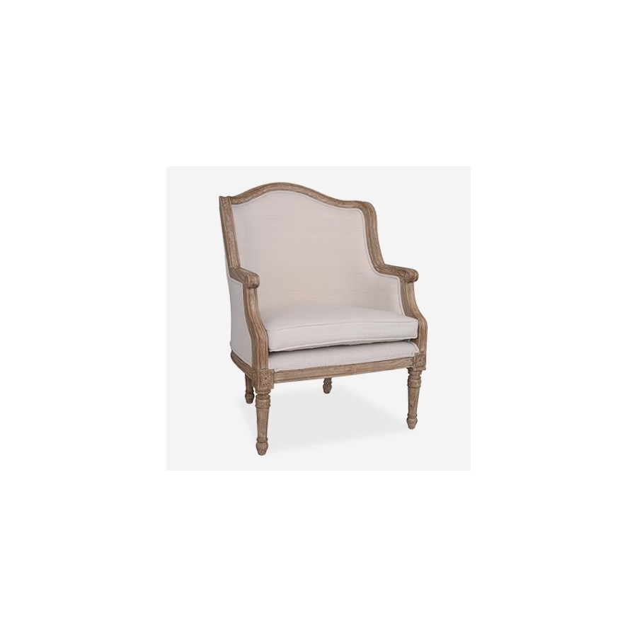 (LS) Lilly Upholstered chair - Cream linen fabric..