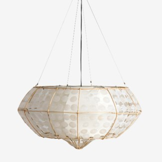 Grand Capiz Hanging Lamp (M)(35X35X18.5)