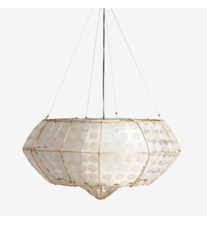 (LS) Grand Capiz Hanging Lamp (M)(35X35X18.5)