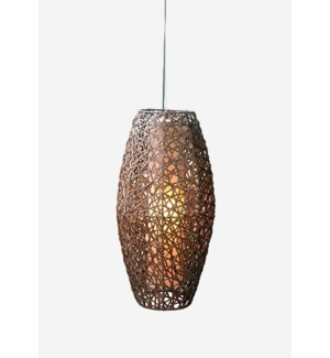 (LS) Dewi Ellipse Hanging Lamp (M) (14x14x28)